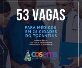 53 vagas para médicos disponíveis nos municípios