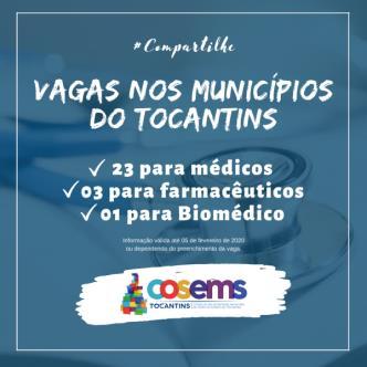 Vagas para médicos e farmacêuticos