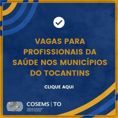 Vagas para profissionais da saúde no Tocantins